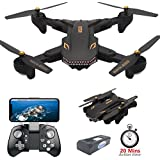 Drone Camera Live Video, Teeggi VISUO XS809S WiFi FPV RC Qudcopter 720P HD Camera Foldable Drone Beginners - Altitude Hold Headless Mode One Key Off/Landing APP Control Long Flight Time