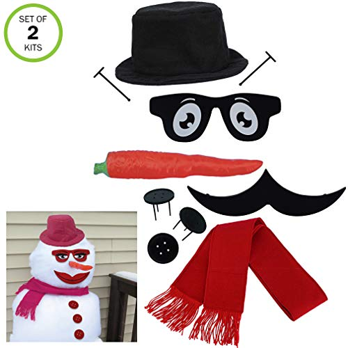 Evelots My Very Own Snowman & Snow Woman Kit, New & Improved 2-in-1]()