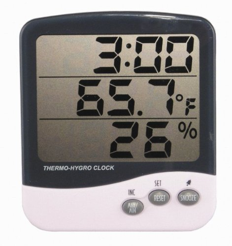 General Tools DTH04 Digital Jumbo Display Temperature and Humidity Monitor with Clock by General Tools (Image #1)