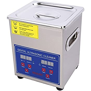 120w 3.2L Digital Commercial Grade lab Heating Ultrasonic Cleaner Eyeglasses Jewelry Cleaner 110V//220V with Cleaning Basket