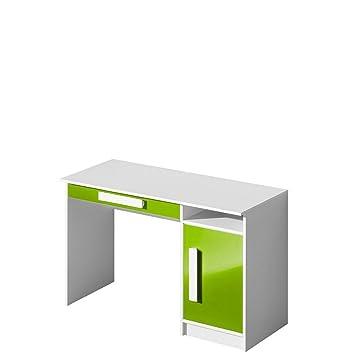 Schreibtisch GULIVER Kinderzimmer Jugendzimmer Moebel (weiß / grün  hochglanz)