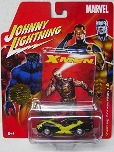 Cyclops 1997 Dodge Viper GTS 1:64 Scale Diecast Car Johnny Lightning Marvel with X-Men - X Men Viper