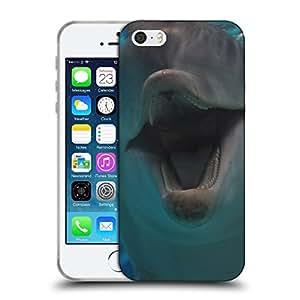 Super Galaxy Coque de Protection TPU Silicone Case pour // V00000107 Delfín // Apple iPhone 5 5S 5G SE
