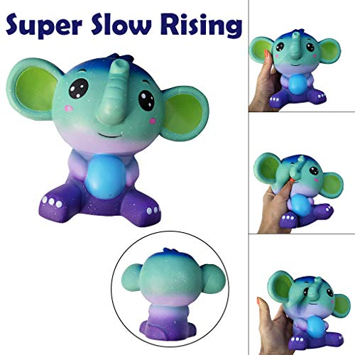 Gbell  Squeeze Toys Stress Relief for Kids,Umbo Cute Elephant Super Slow Rising Squeeze Toy with Cream Scented Simulation Cute Animals Toys Gift for Kids Lovely Stress Relief Toy (Colorful)