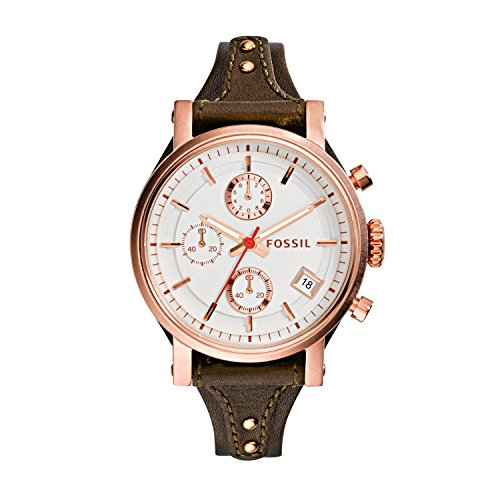 Fossil Women's ES3616 Original Boyfriend Rose Gold-Tone Watc