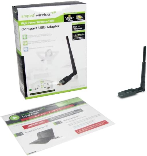 UA150C Amped Wireless High Power Wireless-150N Compact USB Adapter