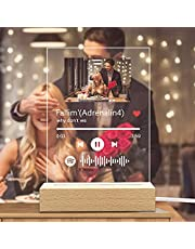 Custom Personalised Spotify Plaque Photo Acrylic Song Album Cover, Customised Spotify Music Plaque Frame Decorative Signs Music Plaques (15 × 22 cm)