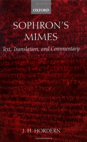 Sophron's Mimes: Text, Translation, and Commentary Pdf