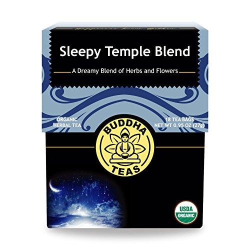 Organic Sleepy Temple Blend Tea - Kosher, Caffeine-Free, GMO-Free - 18 Bleach-Free Tea Bags