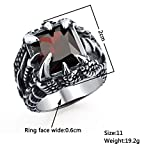 DALARAN Unique Mens Dragon Claw Ring for Boys Red
