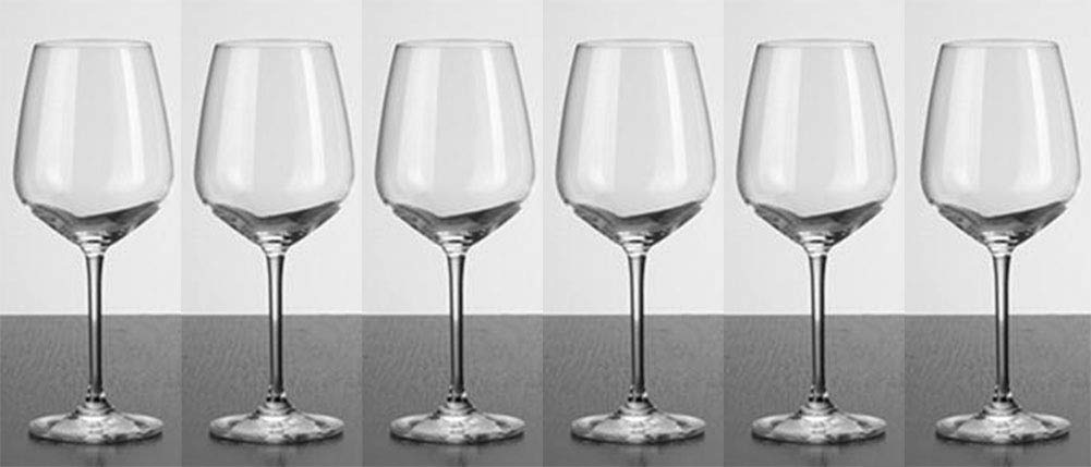 Kefbhefe Crystal Glass Red Wine Glass, Home Lead-Free Goblet, Bar Handmade Red Wine Glass, 627ML, 2, 4, 6,Package2:6Cups