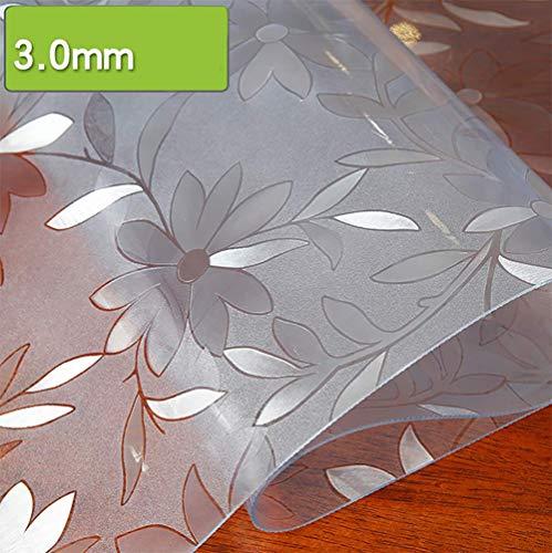 3.0mm 65130CM L Gommage Modèle Cuisine PVC Nappe Verre Nappe Imperméable Et Huile-Preuve Table De Thé Mat Cristal Table Soft Board Mat,3.0MM,65  130CM
