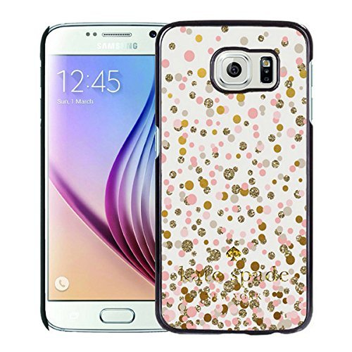 Luxurious And Nice Custom Designed Kate Spade Cover Case For Samsung Galaxy S6 Black Phone Case 99