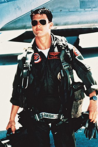 Erthstore 11x17 inch Wall Poster of Tom Cruise as Maverick Top Gun in Flying Outfit & ()