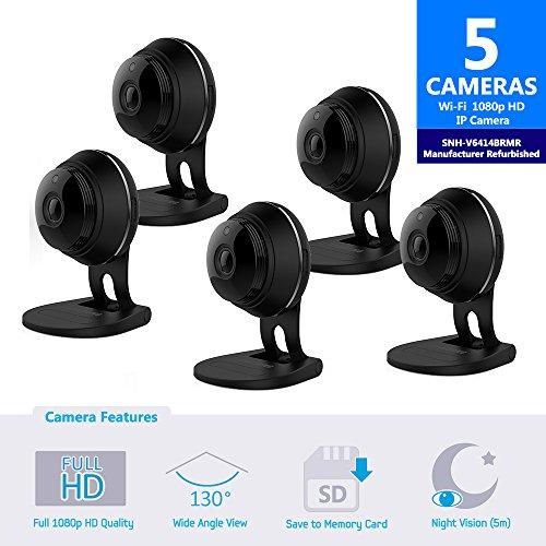Samsung SNH-V6414BMR SmartCam HD Full HD 1080p Wi-Fi Camera Bundle Five Pack...