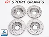 4x BRAKE DISCS SPORT GT GT0817 + GT0831 (FRONT & REAR) HONDA ACCORD VII 2003 2004 2005 2006 2007 2008