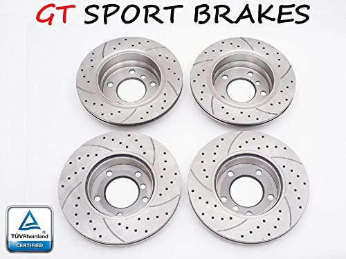 FRONT /& REAR GT0442 4x BRAKE DISCS SPORT GT V-MAXZONE GT0440