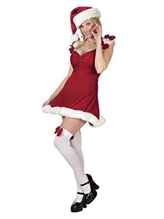 Amazon.com: Sexy disfraz de Papá Noel Helper rojo – Mediano ...