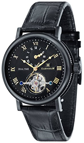 Thomas Earnshaw Womens The Beaufort Watch - Black/Black