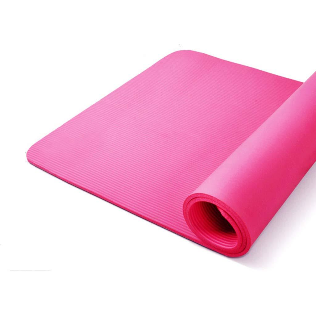 KKCD Große, gepolsterte Yogamatte mit Tragegriff für Pilates, Rutschfeste, Nicht toxische, hochwertige Sportmatte