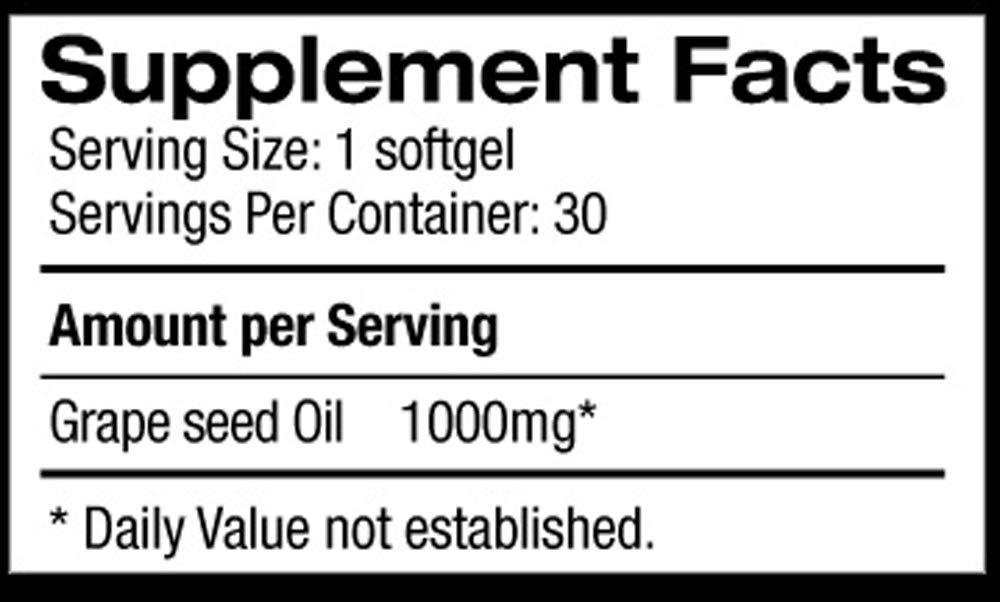 Organo OGX Grape Seed Oil 30 Capsules