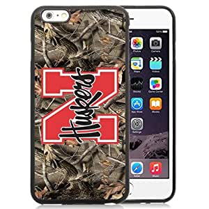 Customized Iphone 6 Plus Case with Ncaa Big Ten Conference Football Nebraska Cornhuskers 13 Protective Cell Phone TPU Cover Case for Iphone 6 Plus Generation 5.5 Inch Black