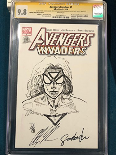ALEX ROSS signed ORIGINAL ALEX MALEEV Sketch Art CGC 9.8 Avengers Spider-Woman Alex Ross Spider