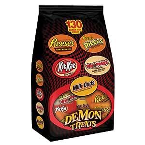 Halloween Hershey's Chocolate Snack Size Assortment, 130-Piece Bag