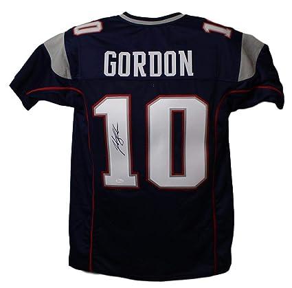 5eb9bccc Josh Gordon Autographed/Signed New England Patriots Blue XL Jersey JSA