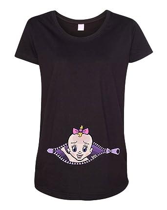 5c4ddeb7601067 Amazon.com  Baby Girl Zipper Cute Maternity DT T-Shirt Tee  Clothing
