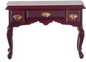 Melody Jane Dolls Houses Mahogany Writing Desk Secretary Table Miniature 1:12 Study Furniture