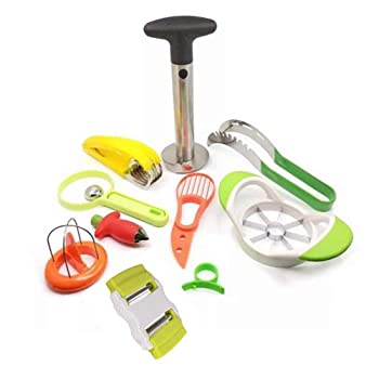 U&Mei Set Of 10 Tools For Cutting Watermelon And Other Fruits