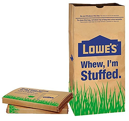 Lowes 30 Gallon Paper Yard Waste Bags, 5 Count (Pack Of 2) 10 Bags (Grass Yard)