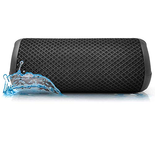 Photive Hydra Portable Bluetooth Speaker with Enhanced Bass. Waterproof Rugged Portable Speaker for Home, Travel and Outdoors