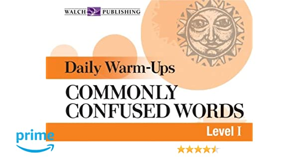 Amazon com: Daily Warm-ups For Commonly Confused Words (Daily Warm