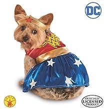 Rubie's DC Comics Disfraz de Wonder Woman para Mascota, Mujer Maravilla, XG