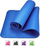 Excersize Mat Thick Yoga Mat 10MM-15MM Non-Slip Extra Long 180CM Exercise Mats Non-Toxic Latex Free Eco-Friendly Memory Foam Pad For Men And Women Fitness In Home Gym Workout Outdoor And Travel (Color