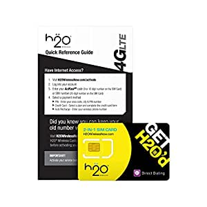H2O SIM Card for H2O Wireless - Retail Packaging - Yellow/BlackDiscontinued by Manufacturer