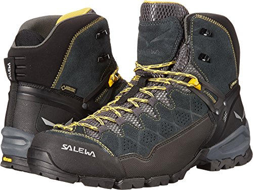 Boot Backpacking Mid Gtx (Salewa Men's Alp Trainer Mid GTX Alpine Trekking Boot, Carbon/ringlo, 11.5 D US)