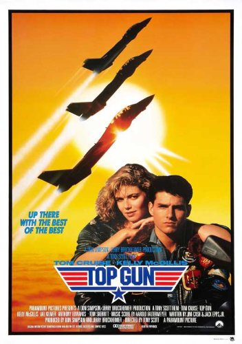 (Top Gun Movie POSTER 27 x 40 Tom Cruise, Kelly McGillis, H, MADE IN THE U.S.A.)