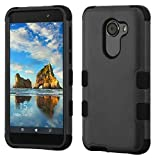 Phonelicious GreatCall Jitterbug Smart 2 Phone Cover Dual Layer Slim Hybrid Rugged Protective with Screen Protector and Stylus (Black)