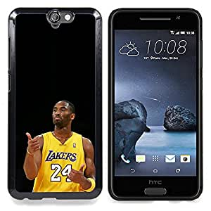 "Qstar Arte & diseño plástico duro Fundas Cover Cubre Hard Case Cover para HTC One A9 (Laker 24 Kobe"")"