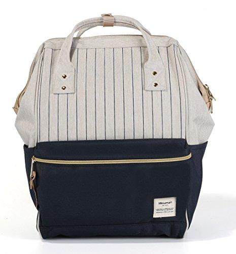 Himawari Travel Backpack Large Diaper Bag Doctor Bag Backpack School Backpack for Women&Men (Blue Stripe)