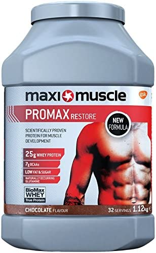 MaxiNutrition Promax Protein Shake Powder 1.12 kg - Chocolate by GSK Consumer Healthcare