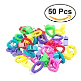 TOYMYTOY 50pcs Kids Spiral Keychain Whistles Fun Noise Maker for Birthday Party Favors