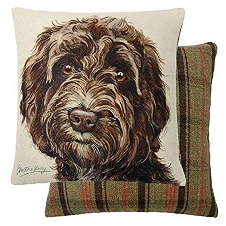Evans Lichfield Ltd.-Cojín Marrón Cockapoo perro cojín ...