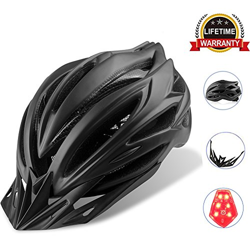 Cheap Cycling Bike Helmet Specialized Bicycle Helmets With Detachable Visor Adjustable Thrasher And 24 Vents Airflow For Adult & Mens & Womens Head Safety Protection