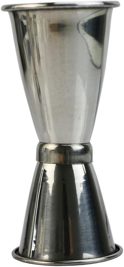 Silver LANDUM 3/Taille Jigger Simple Double Shot Cocktail Vin Courte sur Mesure Cup Boisson Bar f/ête Acier Inoxydable Small