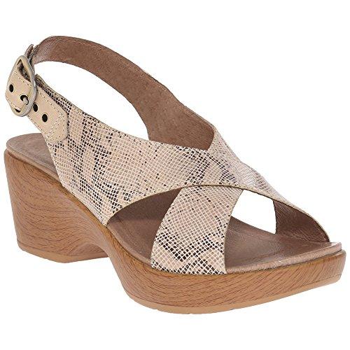 Dansko Stylish Jacinda Women Platforms & Wedges Sandals, Elegant Footwear, Fashion Taupesnake