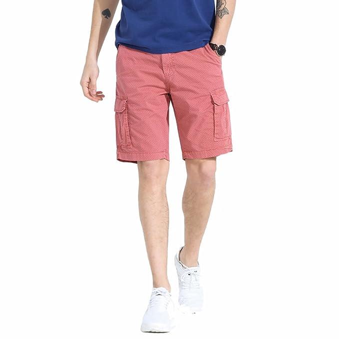 el precio más baratas San Francisco tienda oficial TieNew Pantalones Cortos Cargo para Hombre, Hombres Casual ...